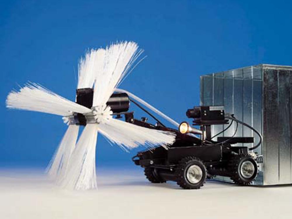Rengjøring av ventilasjonsanlegg med robot : Mintie